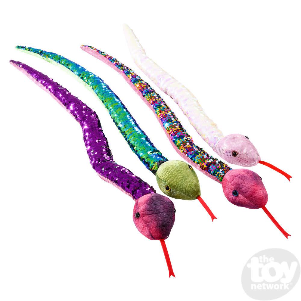 "Toy Network Sequinimals Stuffed Animals Snake 26"""