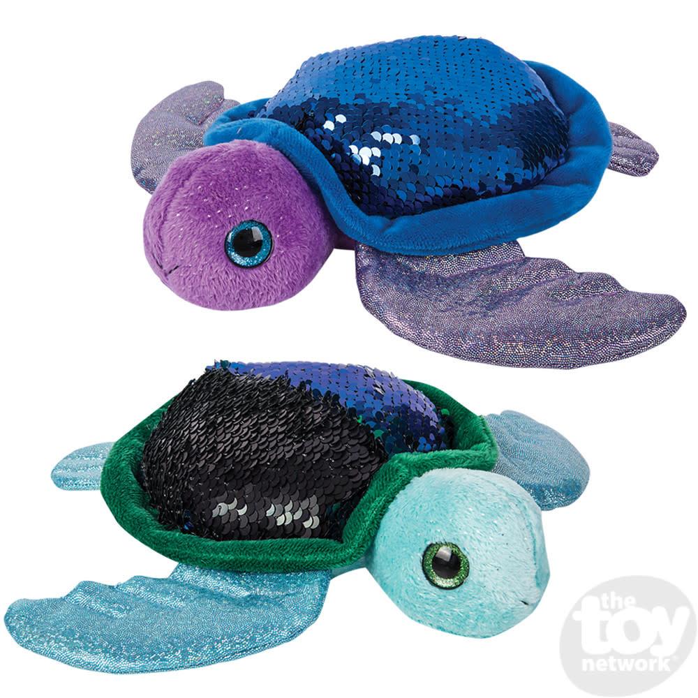 "Toy Network Sequinimals Stuffed Animals Turtle 18"""
