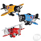 """Toy Network Diecast Pull Back Biplane 6.5"""""""