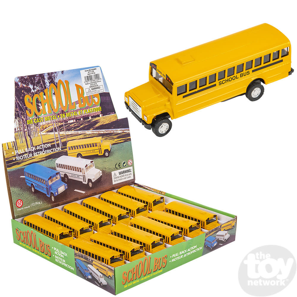 """Toy Network Diecast Pull Back School Bus 5"""""""