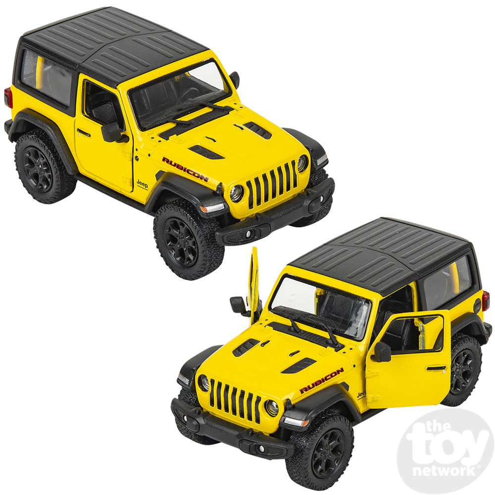 """Toy Network Diecast Pull Back Jeep Wrangler Hard Top 2018 5"""""""