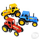 """Toy Network Diecast Pull Back Farm Tractors 3.75"""""""