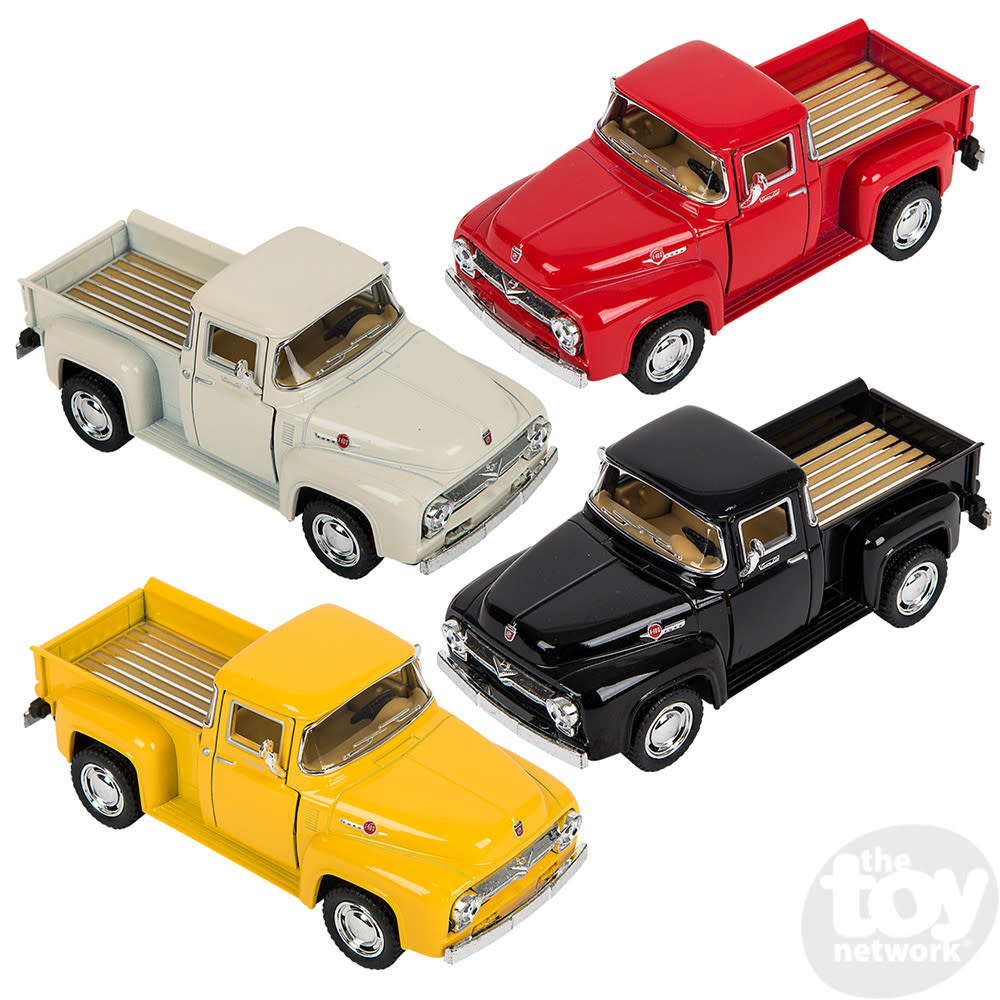 """Toy Network Diecast Pull Back Pickup Truck Ford F-100 1956 5"""""""