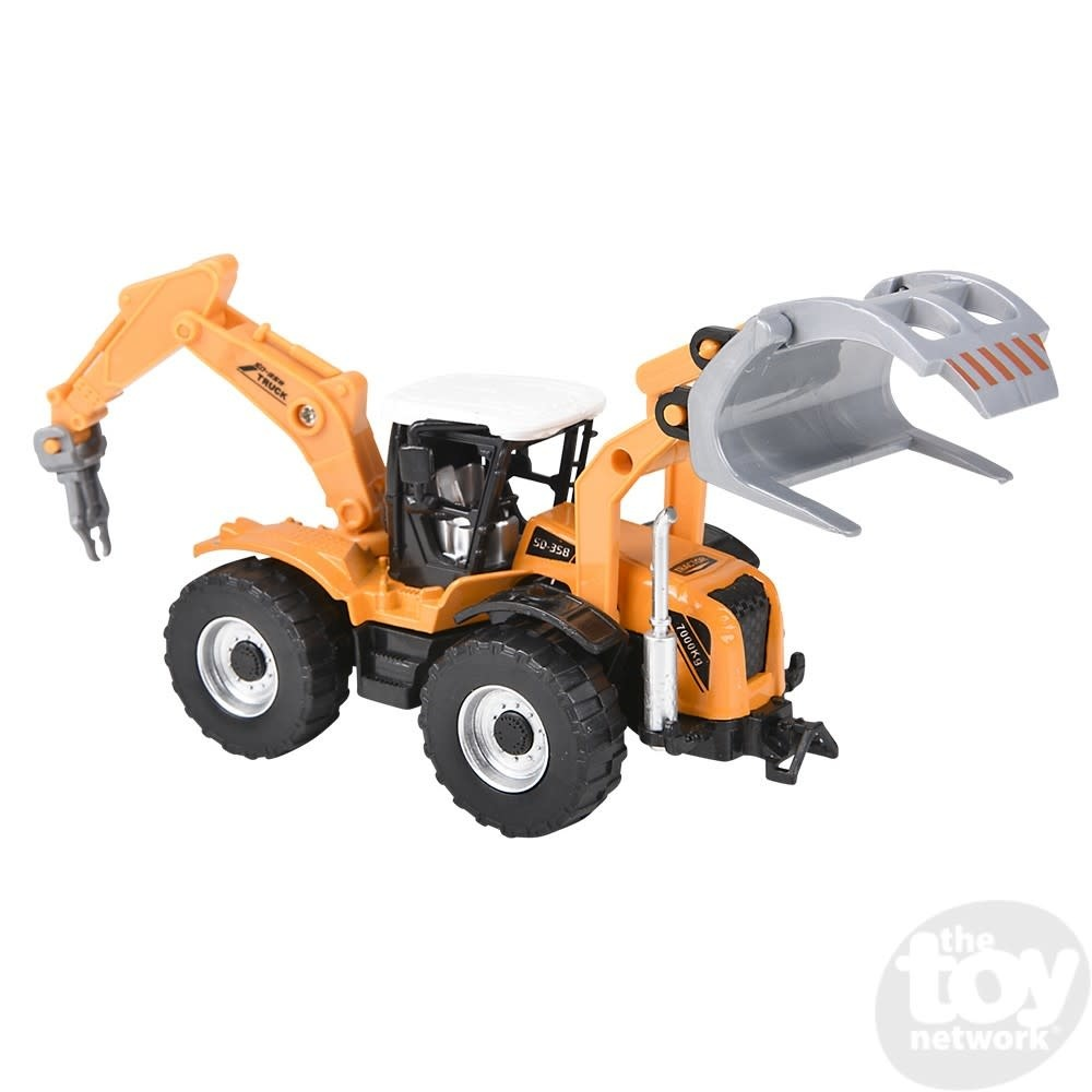 """Toy Network Diecast Pull Back Farm Tractor 6 Styles 7"""""""