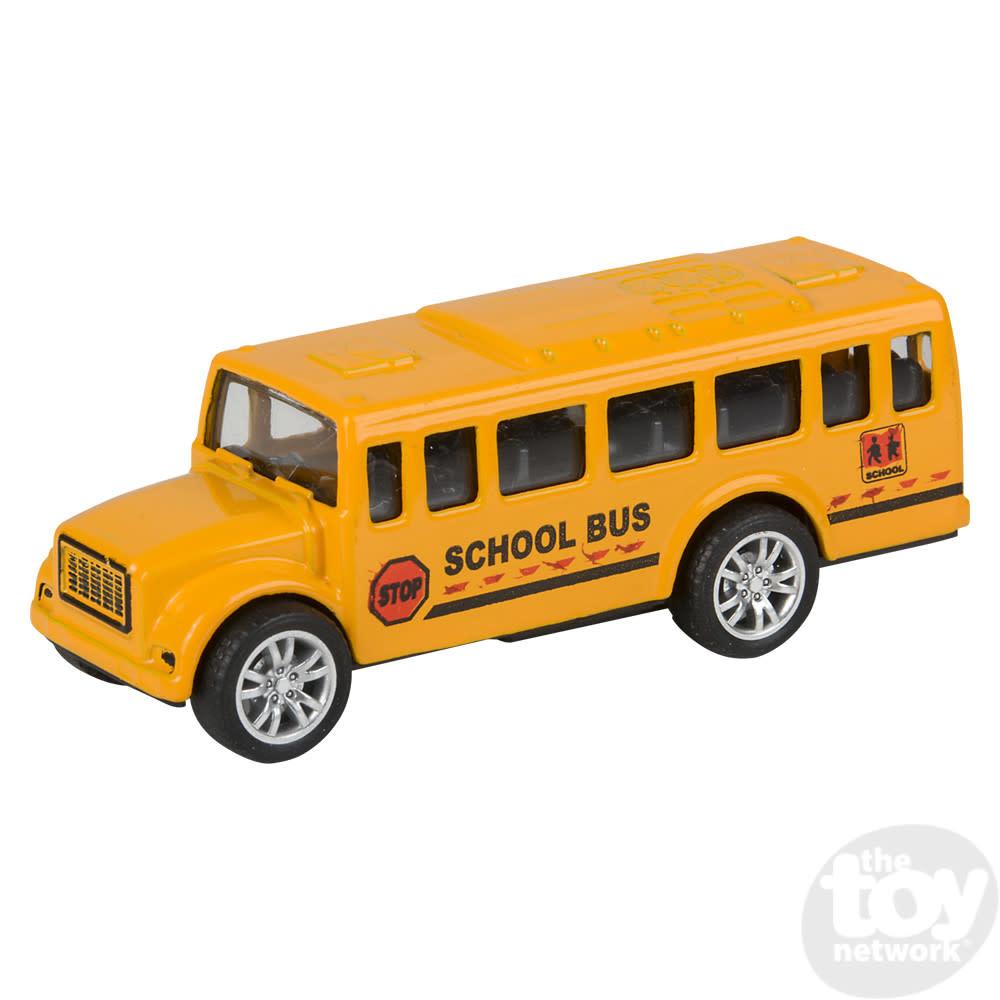 "Toy Network Diecast Pull Back School Bus Mini 3.5"""
