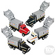 """Toy Network Diecast Pull Back Garbage Truck 6"""""""