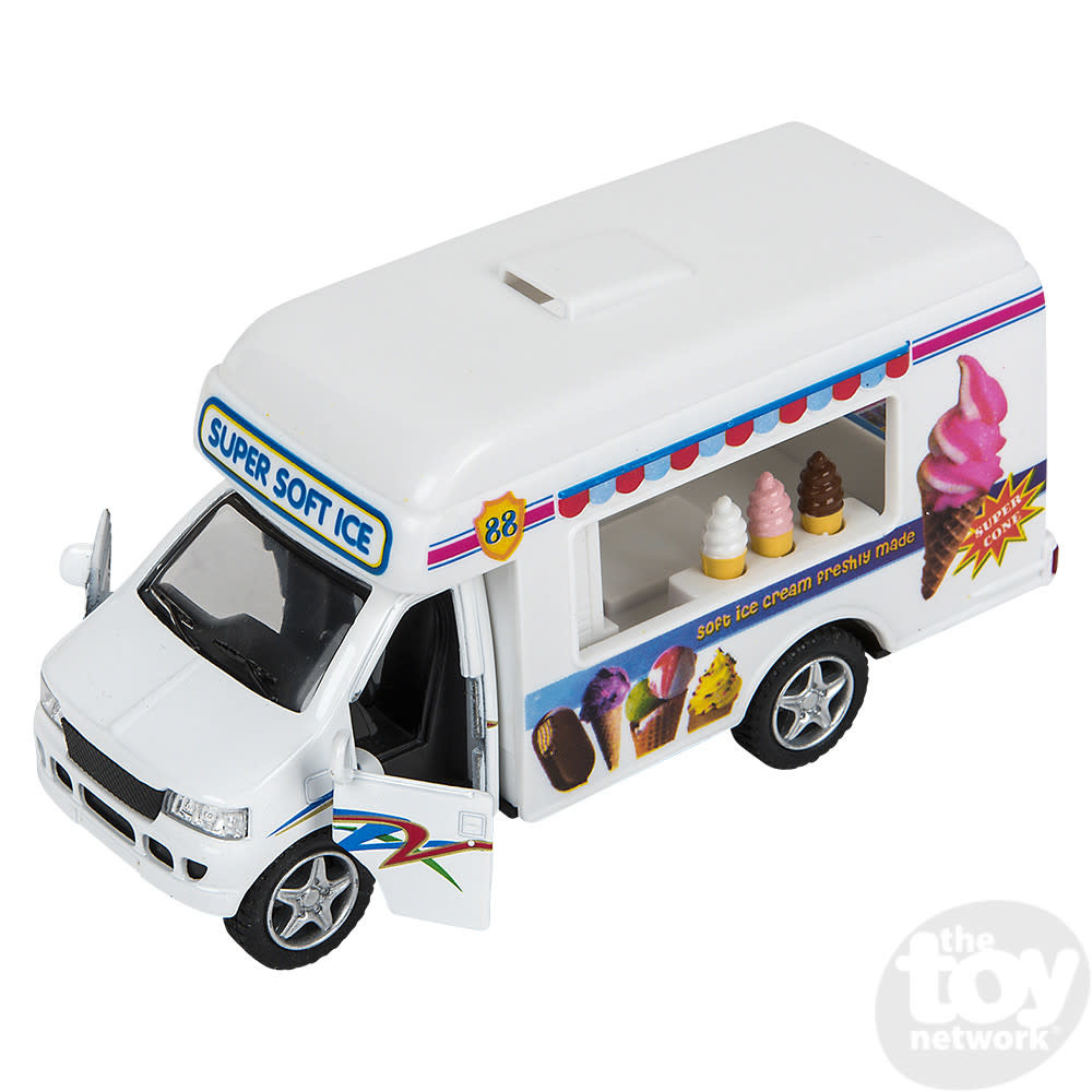 """Toy Network Diecast Pull Back Ice Cream Truck 5"""""""