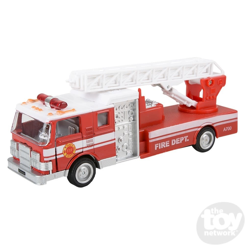 """Toy Network Diecast Pull Back Fire Engine Sonic 7"""""""