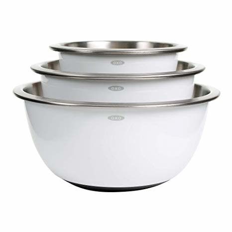 Oxo Good Grips 3pc Stainless Steel Mixing Bowl Set