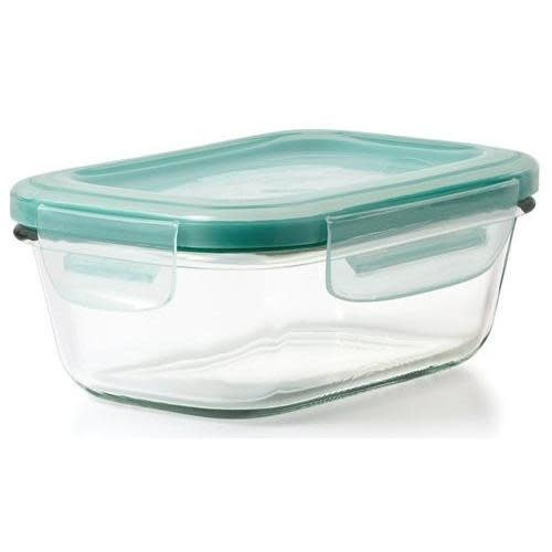 Oxo Good Grips Food Storage Container Glass Smart Seal Rectangle 1.6cup