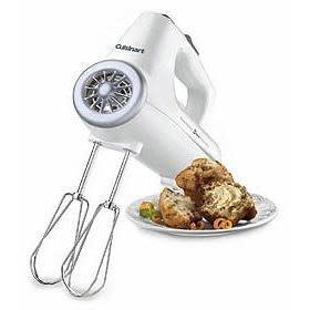 Cuisinart Electric Hand Mixer 3-speed Blender White 220watts