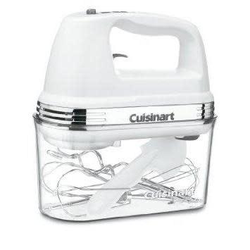 Cuisinart Electric Hand Mixer 9-speed Blender With Storage Case White 220 watts 3slow speeds