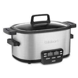 Cuisinart Electric Slow Multi Cooker Central 4qt Metal Insert