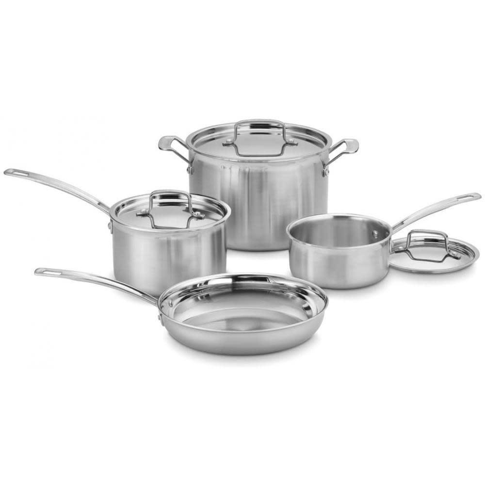 Cuisinart Cookware Multi-clad Pro Set Stainless 7-piece