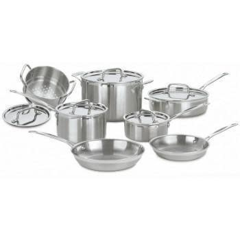 Cuisinart Cookware Multi-clad Pro Set Stainless 12-piece
