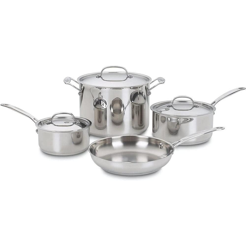 Cuisinart Cookware - Chefs Classic Stainless Steel, 7 Piece Set