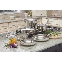 Cuisinart Cookware Chefs Classic Set Stainless 10-piece