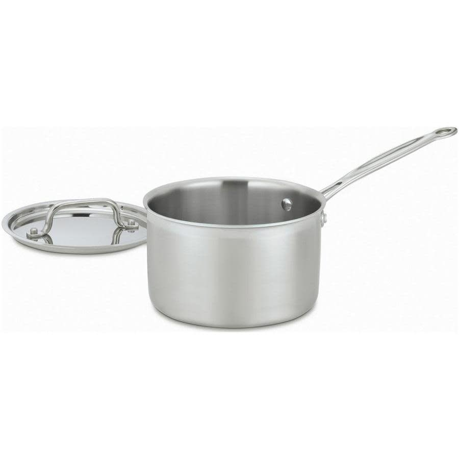 Cuisinart Cookware Multi-clad Pro Stainless Saucepan 3.0qt W/ Cover