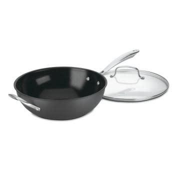 """Cuisinart Cookware - Green Gourmet Nonstick, Stir Fry Wok 12"""" w/Cover"""