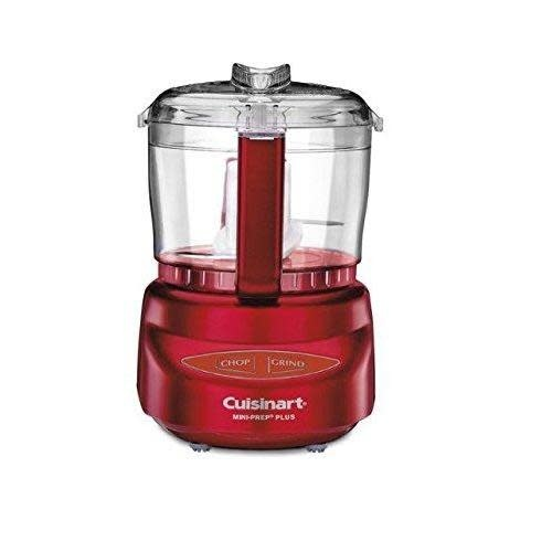 Cuisinart Electric Food Chopper Processor Mini-prep Plus Red-metallic  3CUP