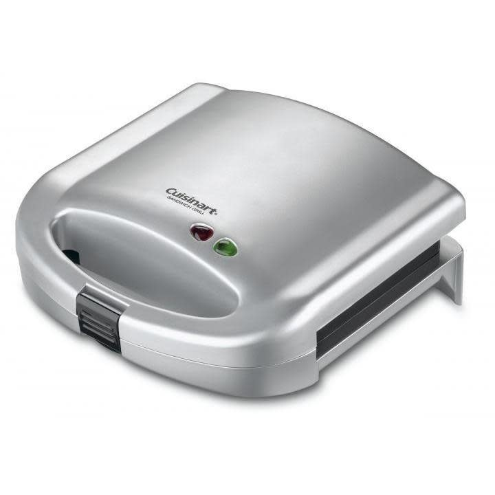 Cuisinart Electric Tabletop Grill Sandwich Brushed Chrome-- grills 2 sandwiches