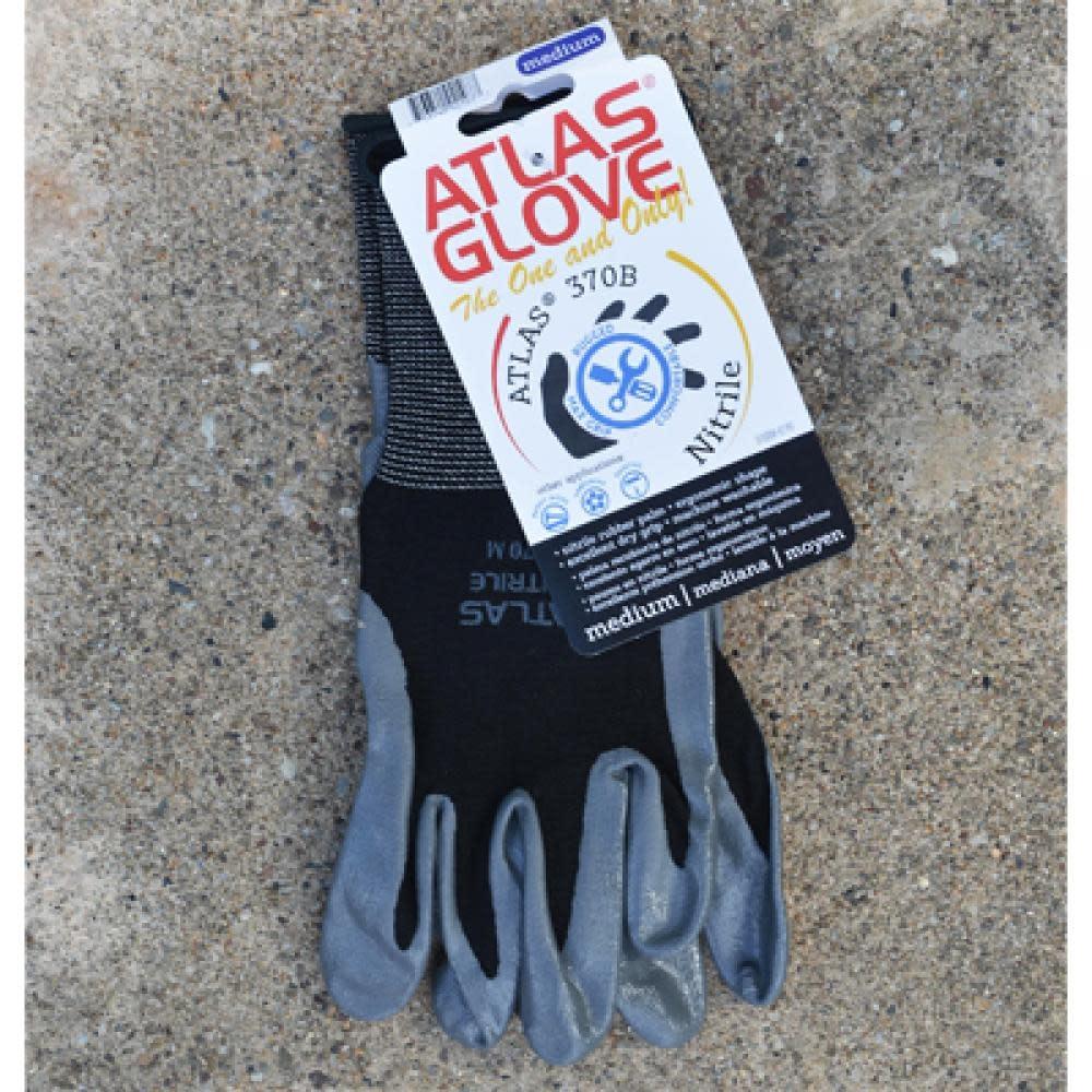 Dorthy Biddle Garden Tool Gloves Atlas Nitrile Grip - Med Black