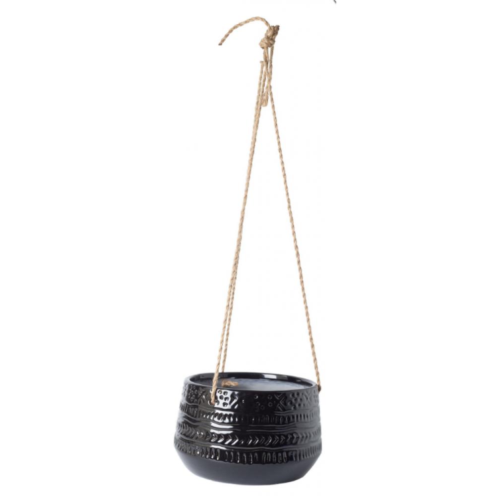 Home Essentials & Beyond Hanging Planter - Black Global 5inH