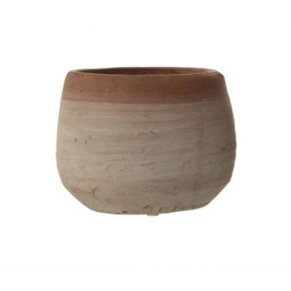 Creative Co-Op Planter - Terracotta Whitewashed