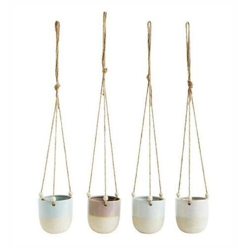 Creative Co-Op Hanging Planter - Stoneware Glazed, 4 Colors