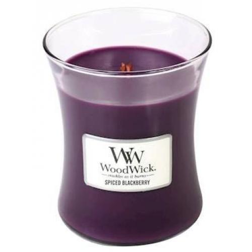 Woodwick Woodwick Medium Candle Jar Spiced Blackberry 10oz 60 Hour Burn Time