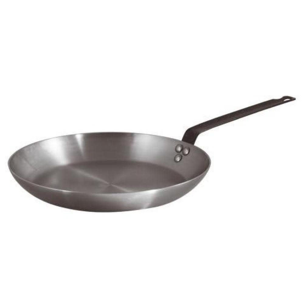 """BelleVie Heavy-Duty Polished Carbon Steel Frying Pan 12.5"""""""