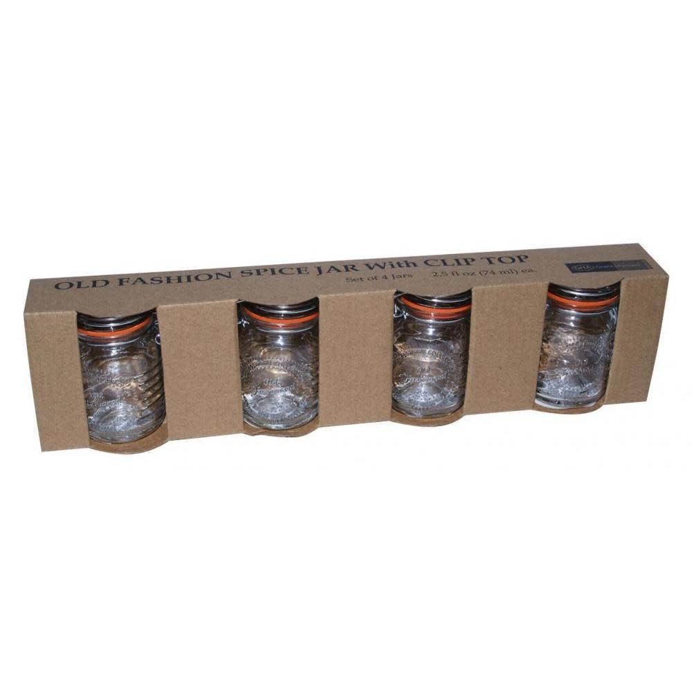 GHA Spice Jar Glass Old Fashioned 2.5oz 4 Piece Set (2.99ea)