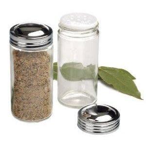 RSVP Spice Jar Glass Chrome Top 3oz