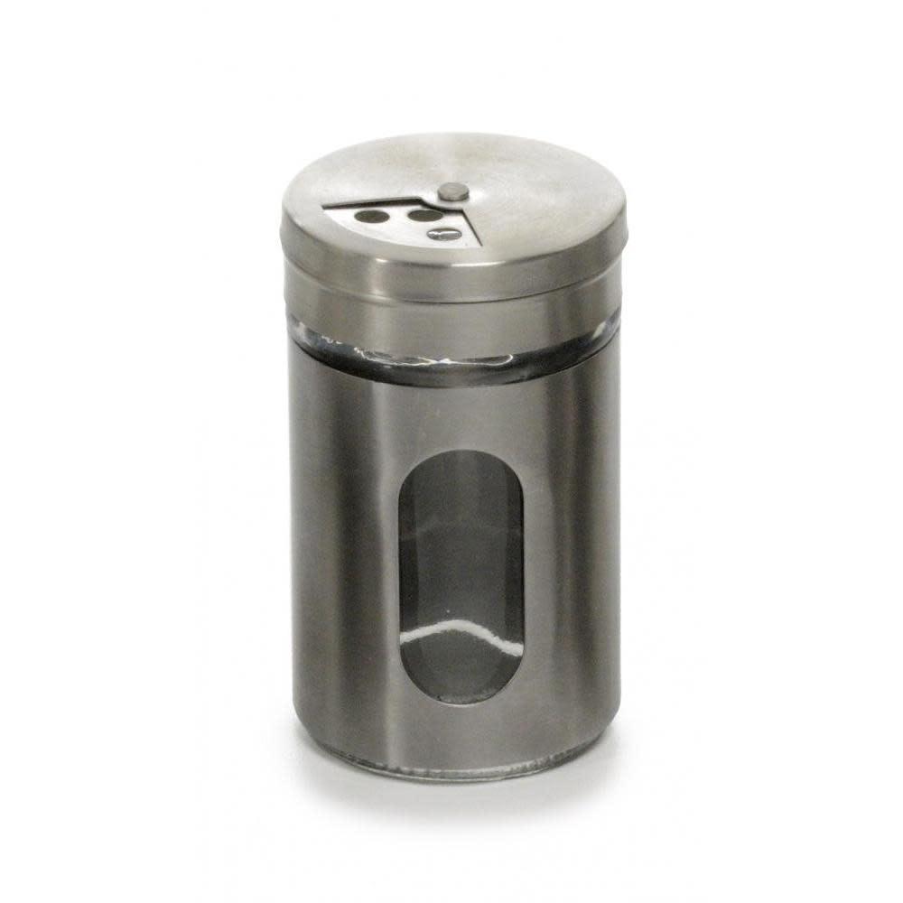 RSVP Spice Jar Glass Metal Case Shaker 2oz
