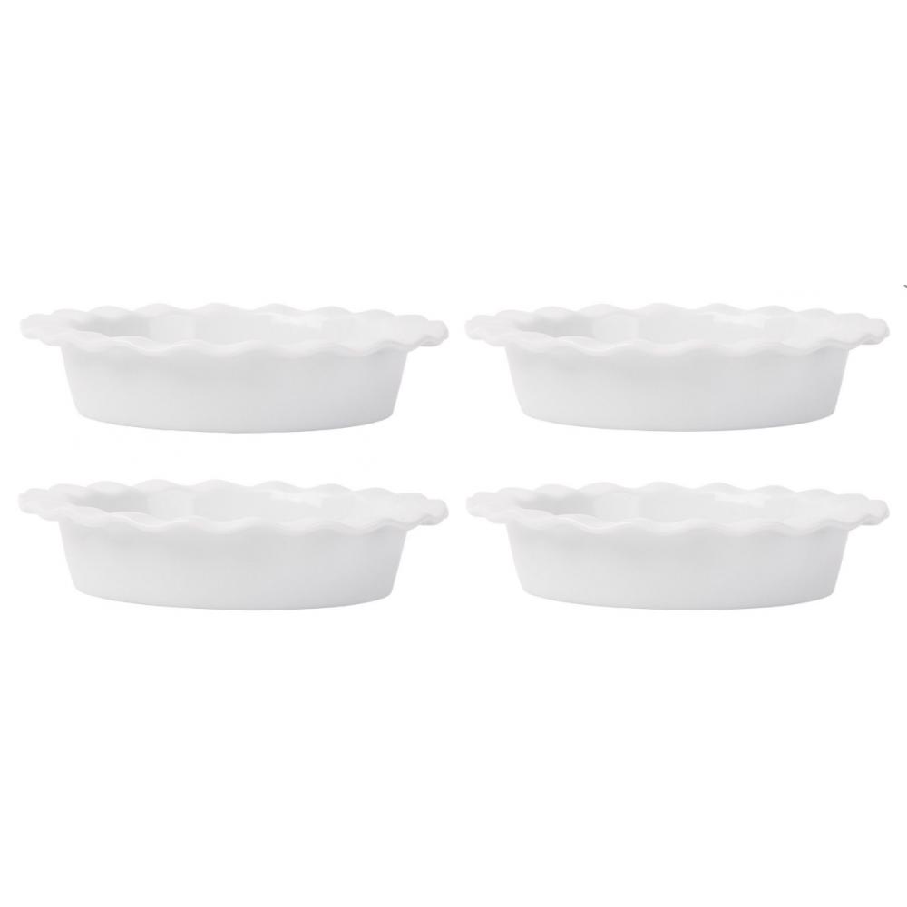 "Home Essentials & Beyond Baking Dish - Mini Ruffle Pie Plates 5"", Set of 4"