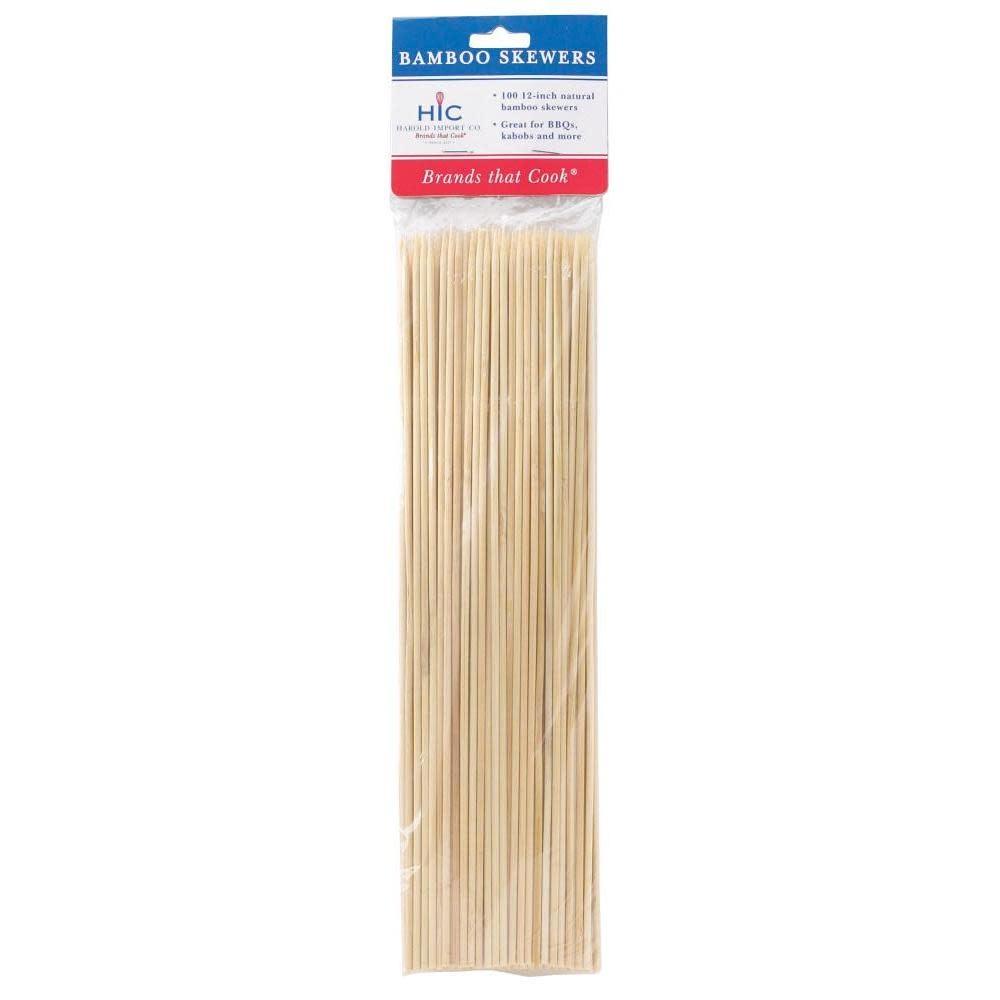 Harold Imports Co. Wood Skewers Long 12in