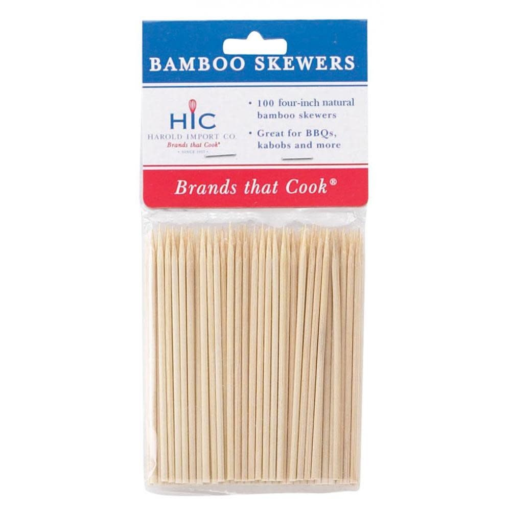 Harold Imports Co. BBQ Accessory - Wood Skewers Short 4in
