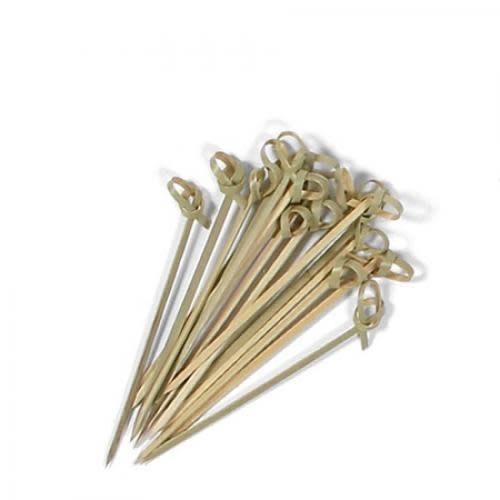 "Miya Bamboo Skewers Knotted Pack 4"""