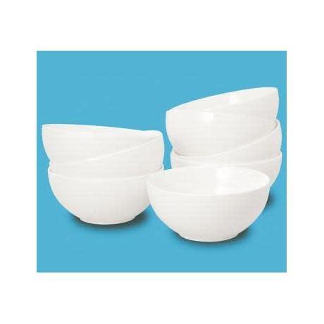 Thompson Pottery Dinnerware Basic White Bowl Box of 8
