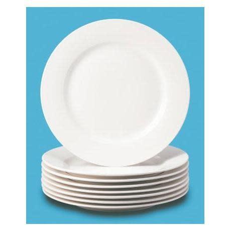 Thompson Pottery Dinnerware Basic White Dinner Plate Box of 8