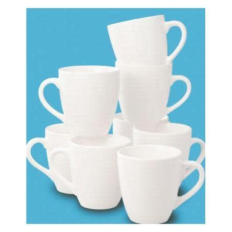 Thompson Pottery Dinnerware Basic White Mug Box of 8