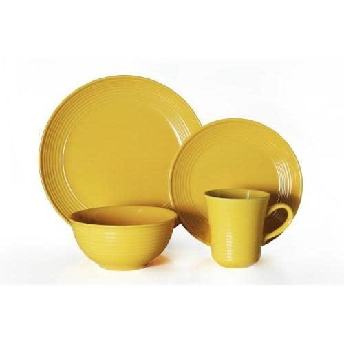 Thompson Pottery Dinnerware Set - Cabo 16 Piece Set - Yellow