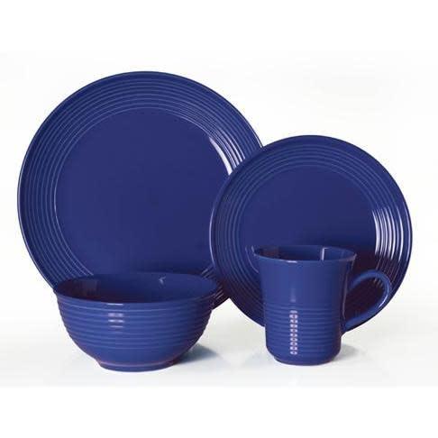 Thompson Pottery Dinnerware Set - Cabo 16 Piece Set - Blue