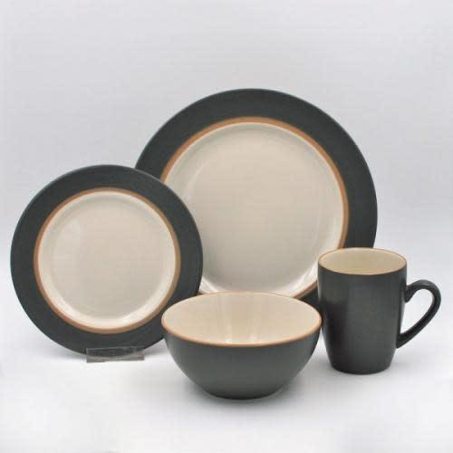 Thompson Pottery Dinnerware Set - Kensington 16 Piece Set - Slate