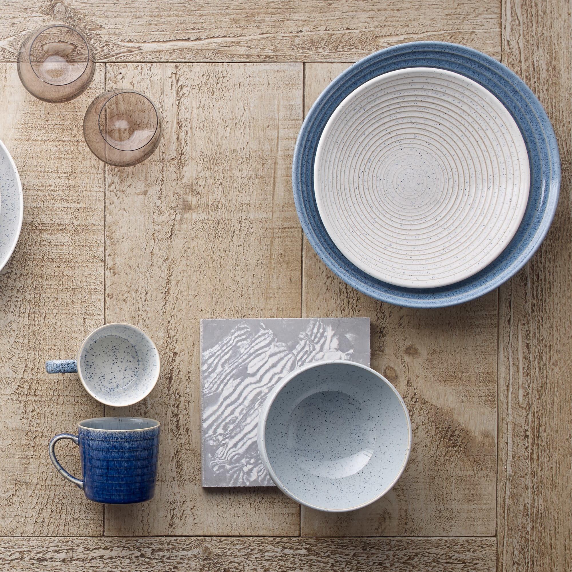 Denby Studio Blue Chalk Med Ridged Bowl