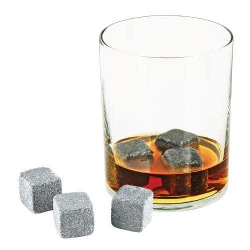 Viski Whiskey Stones - Soapstone Cubes Glacier Rocks 6 Piece Box