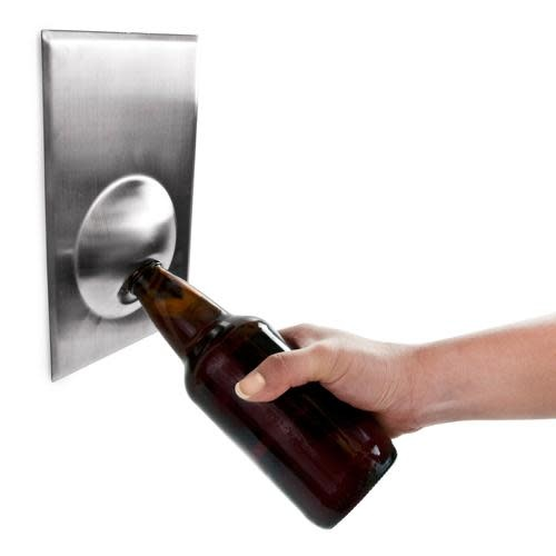 True Brands Bottle Opener - Wall-Mounted Metal Magnetic Magnifico