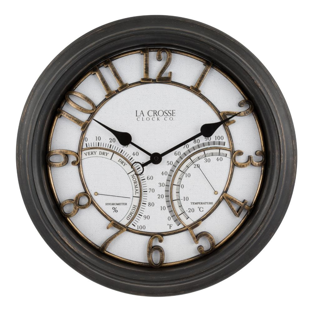 Lacross Technology Indoor/Outdoor Analog Wall Clock 19.5 inch