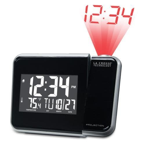 Lacross Technology Alarm Clock Projection With Indoor Temperature
