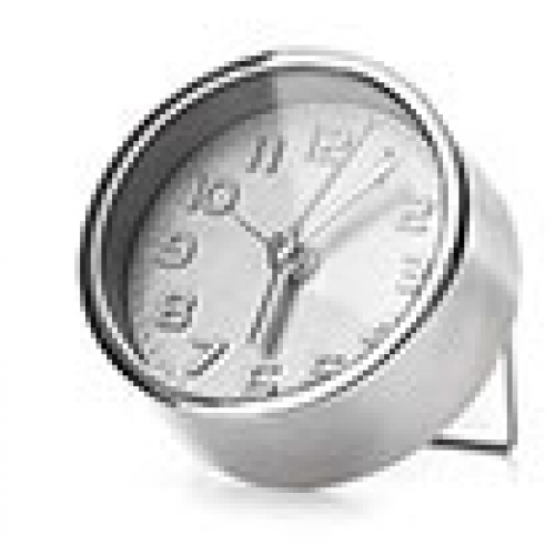 Kikkerland Silver Alarm Clock